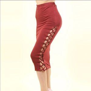 Brenna Braided Side Pencil Skirt
